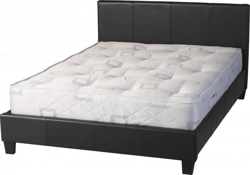 Credit Crunch Carpets Nottingham Prado 4 Foot 6 Inch Bed In Black