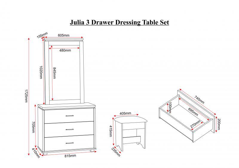credit crunch carpets nottingham julia 3 drawer dressing table set in beech white trim brown pu. Black Bedroom Furniture Sets. Home Design Ideas