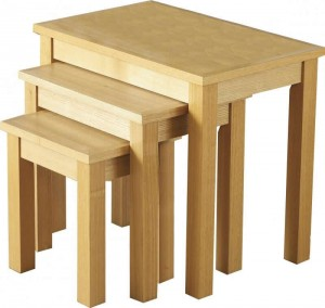 Oakleigh Nest of Tables in Natural Oak Veneer