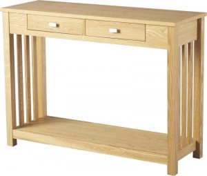 Ashmore 2 Drawer Console Table in Ash Veneer