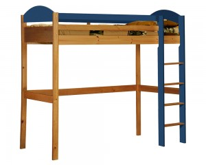 Maximus High Sleeper Antique With Blue Details