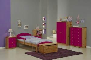 Maximus Mini Safety Rail Antique With Fuschia Details
