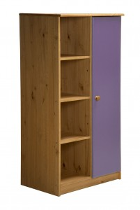 Avola One Door Cupboard Antique With Lilac Details
