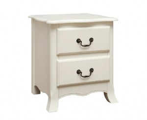 Credit Crunch Carpets Chantilly 2 Drawer Bedside Cabinet