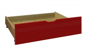 Under Bed Drawer (2 Per Box) Antique With Red Details