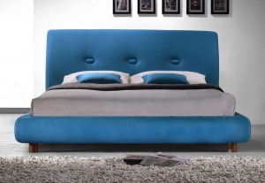 Sache Teal King Size Bed