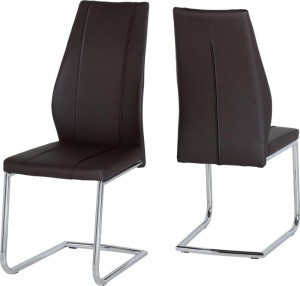 Credit Crunch Carpets A1 Chair in Brown PU/Chrome