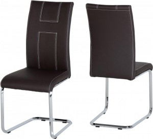Credit Crunch Carpets A2 Chair in Brown PU/Chrome