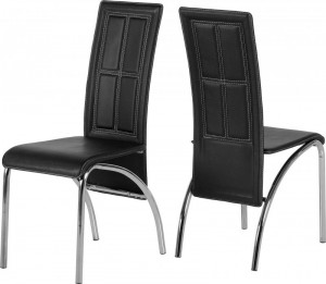Credit Crunch Carpets A3 Chair in Black PVC/Chrome