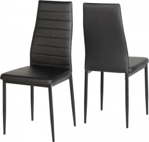Credit Crunch Carpets Abbey Dining Chair in Black PU