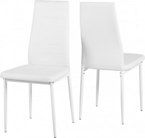 Credit Crunch Carpets Abbey Dining Chair in White PU