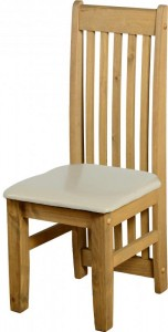 Credit Crunch Carpets Tortilla Chair (PAIR) in Distressed Waxed Pine/Cream PU