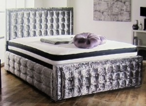 Hoy Luxury Upholstered King Size Bed with Lift Up Storage