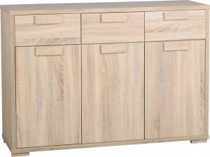 Cambourne 3 Door 3 Drawer Sideboard Sonoma Oak Effect Veneer
