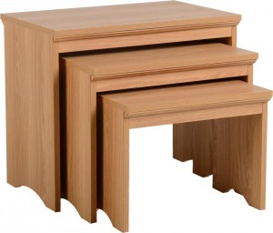 Regent Nest of Tables Teak Effect Veneer