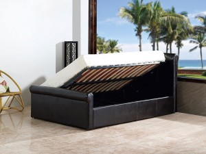 Carolina 4'6 Side Gas Lift Bed Black