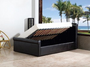 Carolina 4'6 Side Gas Lift Bed Brown