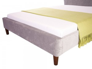 Avery 4ft6 Fabric Bedstead Silver