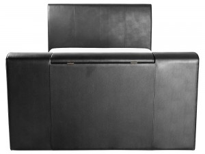 New York - Pneumatic Tv Bedstead 4ft6 Black