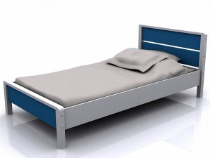 Miami 3' Bed Blue and White