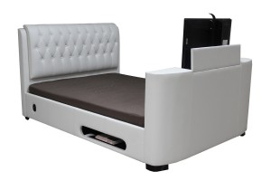 Cosmo Faux Leather Double TV Bed