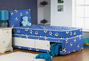 Football Divan Bed (Including Headboard)