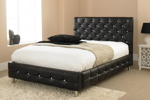 Black Crystal Double Bed
