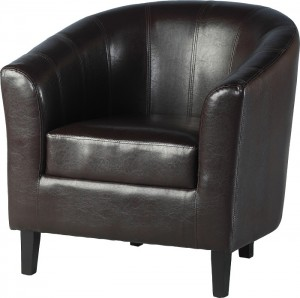 Tempo Tub Chair in Expresso Brown Faux Leather