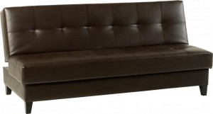Credit Crunch Carpets Vanya Sofa Bed in Expresso Brown PVC
