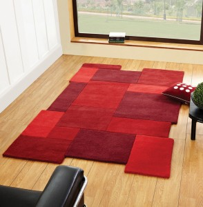 Credit Crunch Carpets Abstract Collage Red