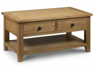 Credit Crunch Carpets Astoria Oak Coffee Table with 2 Drawers
