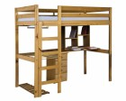 Rimini High Bed Student Set With 4 Drawer Bedside Antique