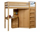 Rimini High Bed Set With Corner Robe And Bedside Antique