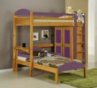 Maximus L Shape High Sleeper Antique With Lilac Details