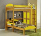 Maximus L Shape High Sleeper Antique With Lime Details