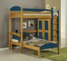 Maximus L Shape High Sleeper Set 1 Antique With Blue Details