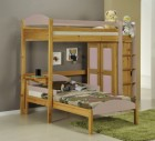 Maximus L Shape High Sleeper Set 1 Antique With Pink Details