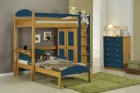 Maximus L Shape High Sleeper Set 2 Antique With Blue Details