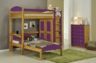 Maximus L Shape High Sleeper Set 2 Antique With Lilac Details