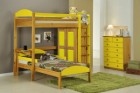 Maximus L Shape High Sleeper Set 2 Antique With Lime Details