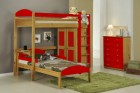 Maximus L Shape High Sleeper Set 2 Antique With Red Details